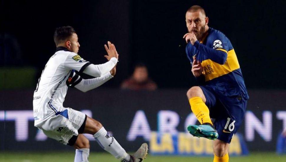 Daniele De Rossi, autor del gol que le sirvió de poco a Boca Juniors, jugó un buen partido pero su equipo fue eliminado.