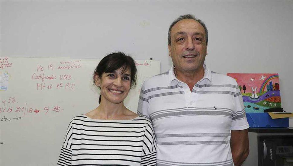 Mosca y Lombardi, del equipo de Salud del municipio, satisfechos con los resultados de la campaña de vacunación.
