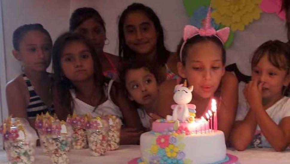 Martina Prieto cumplió diez años y festejó