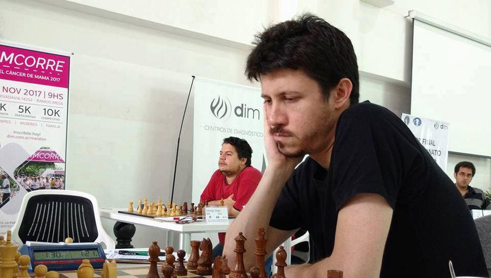Diego Flores, en el Argentino Superior.