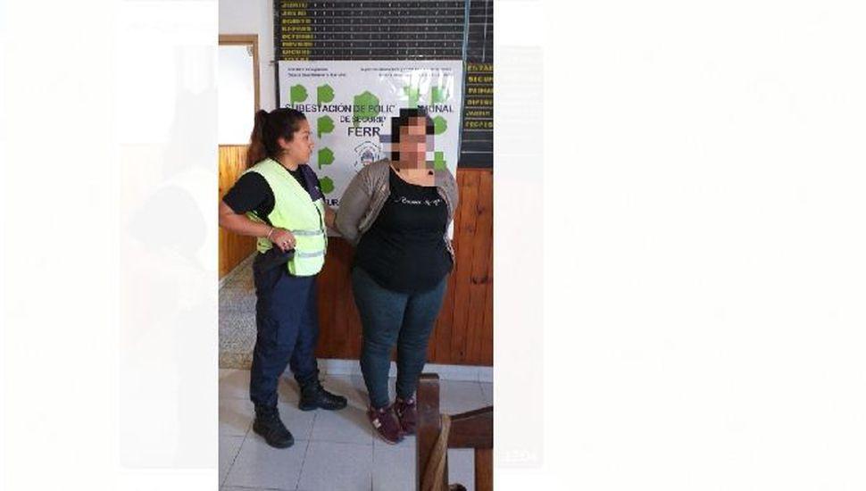 Detuvieron a una mujer con pedido de captura