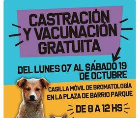 Hasta el sábado 18 habrá campaña de vacunación y castración de animales gratuita