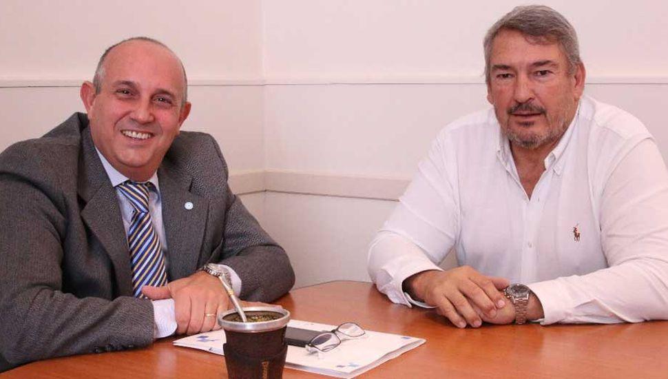 El intendente Guerrera reunido, en su despacho, con el legislador Jorge D´Onofrio.