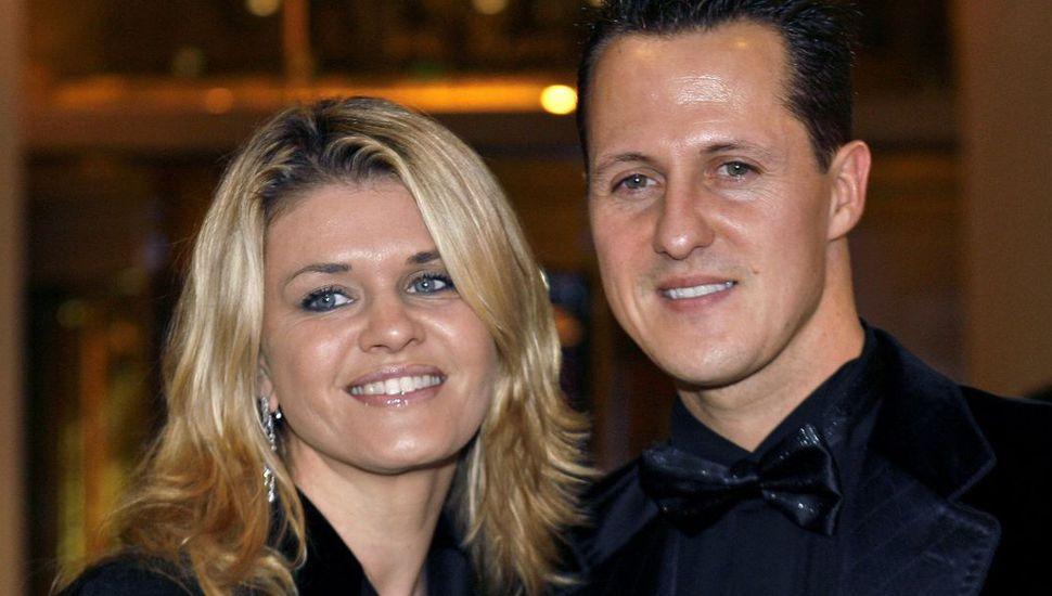 Michael Schumacher y su esposa, Corinna.