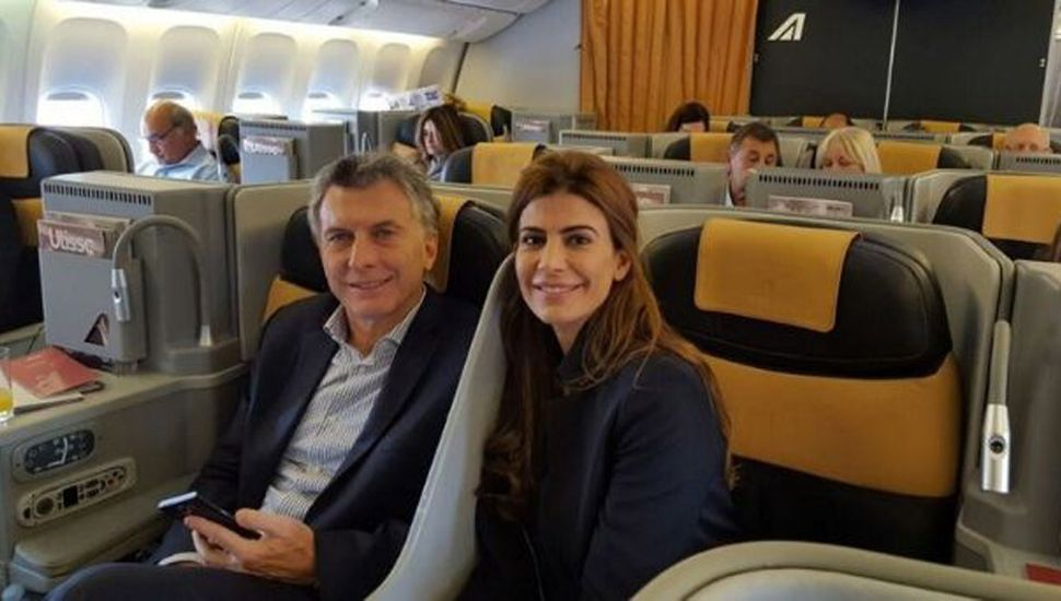 Mauricio Macri viajó con su familia.