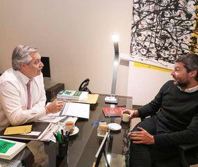 Alberto Fernández se reunió con Matías Lammens, candidato en la ciudad de Buenos Aires, y hoy viaja a Córdoba, los dos distritos en los que ganó Cambiemos.