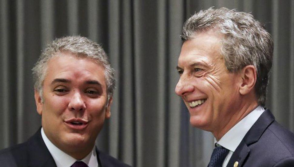 Macri recibió a Iván Duque en su primera visita al país