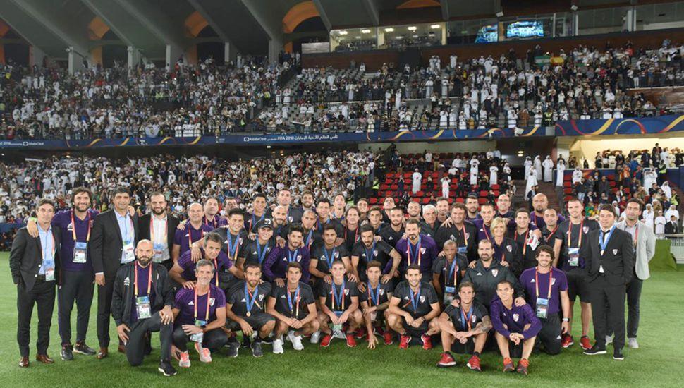 El plantel de River finalizó el Mundial de Clubes en el tercer lugar.