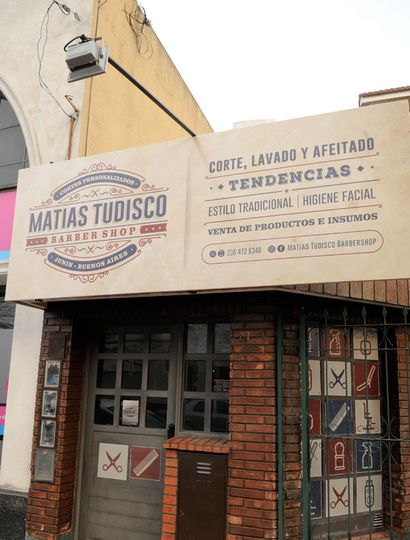 Frente del local de Matías Tudisco.