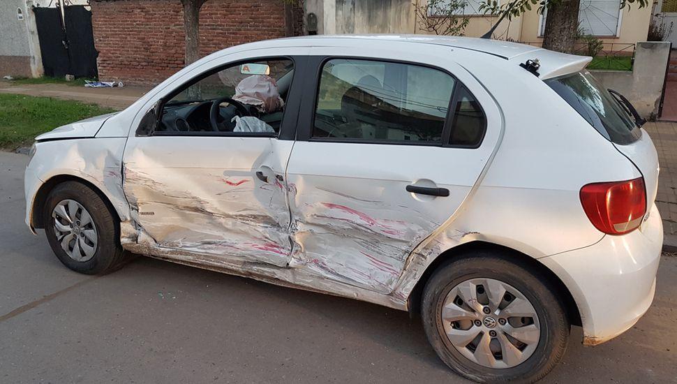 Los airbag se activaron en el taxi.