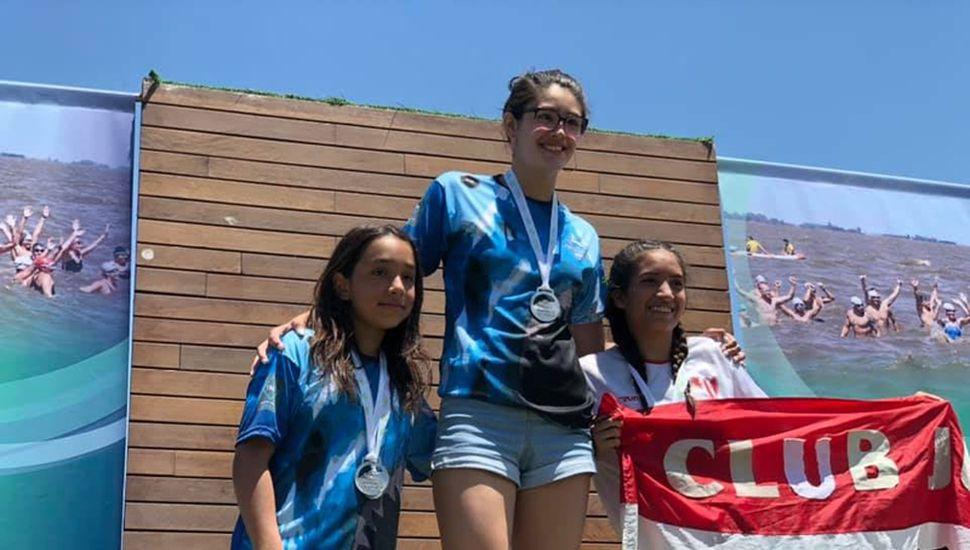 Morena Cárdenas, Lucía Ferreri y Sofía Panelo.
