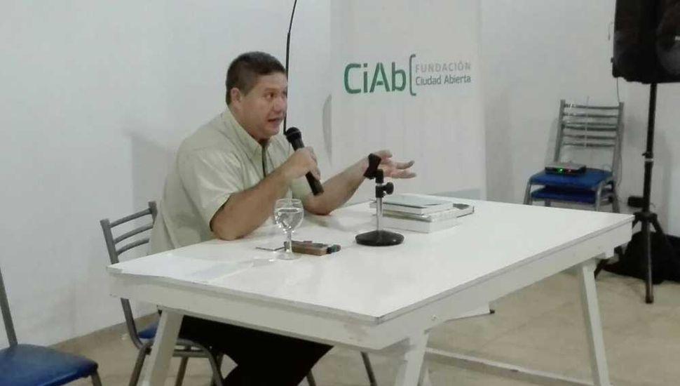 Pablo Petraglia, ayer, en local del Frente Renovador.