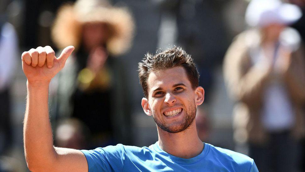 El austríaco Dominic Thiem venció a Novak Djokovic y hoy enfrentará en la final al español Rafael Nadal.