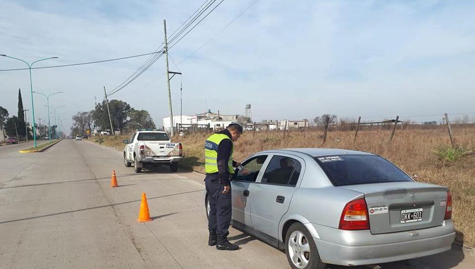 Varios operativos policiales se montaron ayer en nuestra ciudad, en este caso en Pastor Bauman.