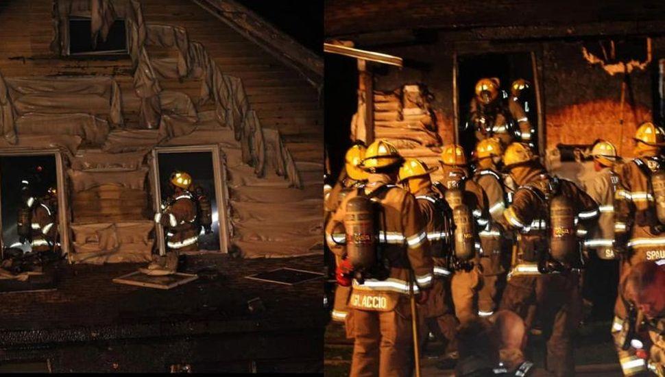 Un bombero perdió a sus cuatro hijos en un incendio mientras atendía una falsa alarma