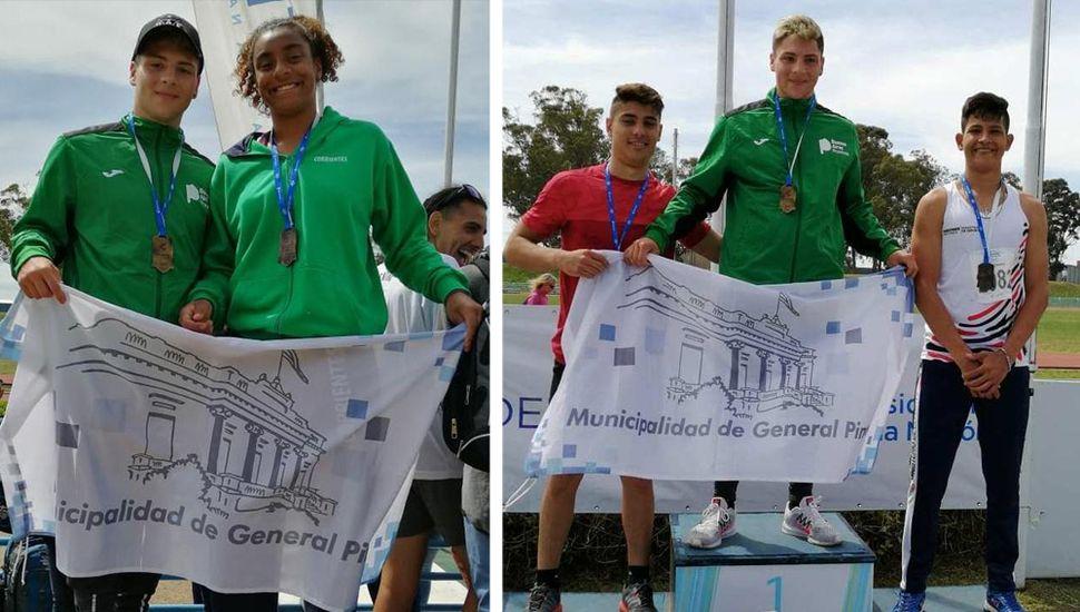 """Bruno Arce ganó medalla de oro y Naomi Sampaio la de plata en la final nacional de los Juegos """"Evita"""""""
