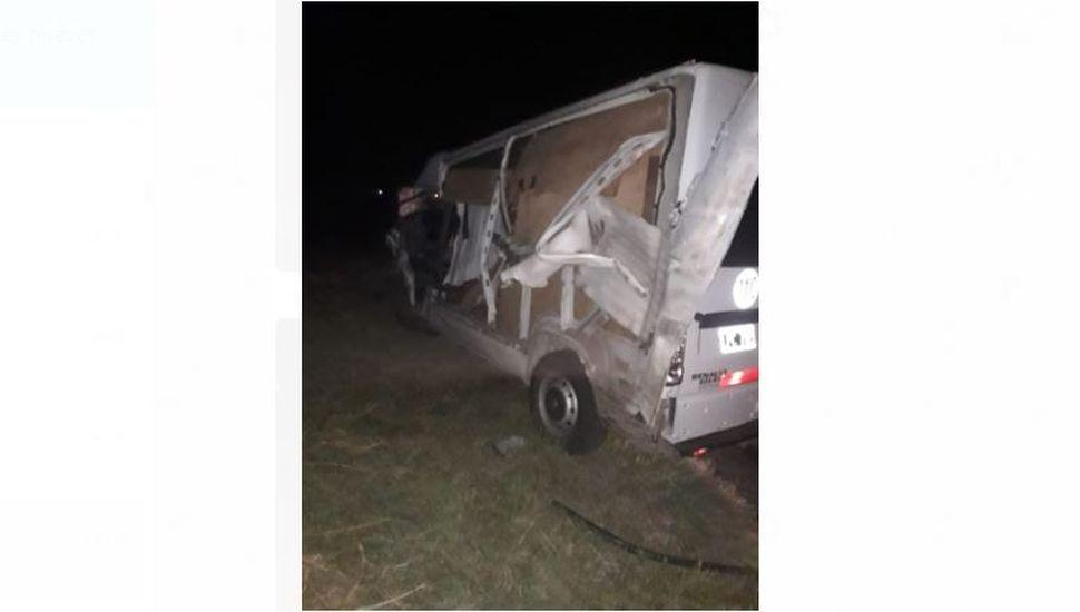 Arenales: chocaron un auto y un camión en la ruta 65