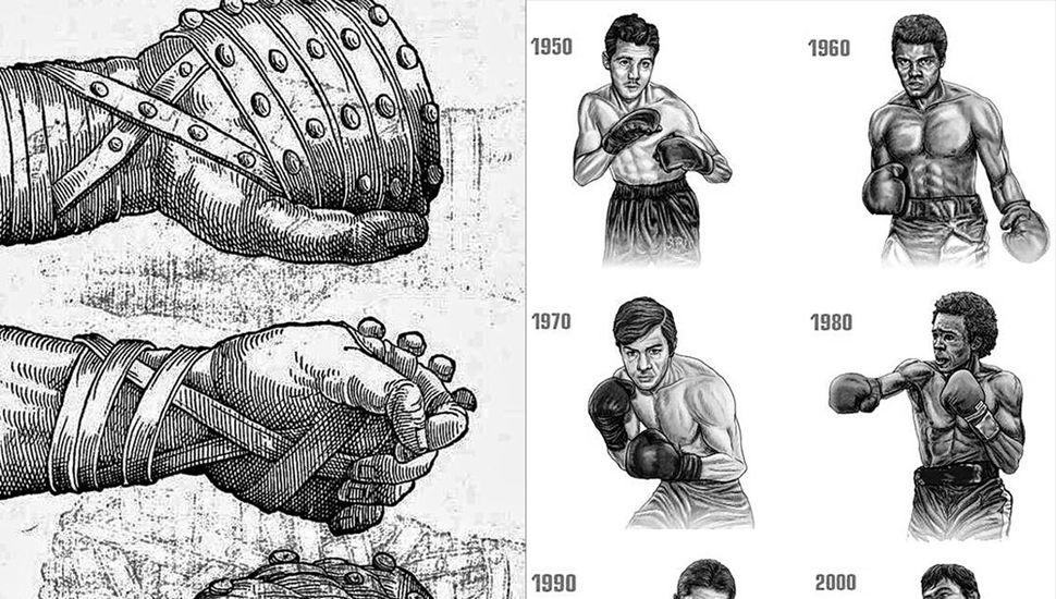 La historia del guante de boxeo