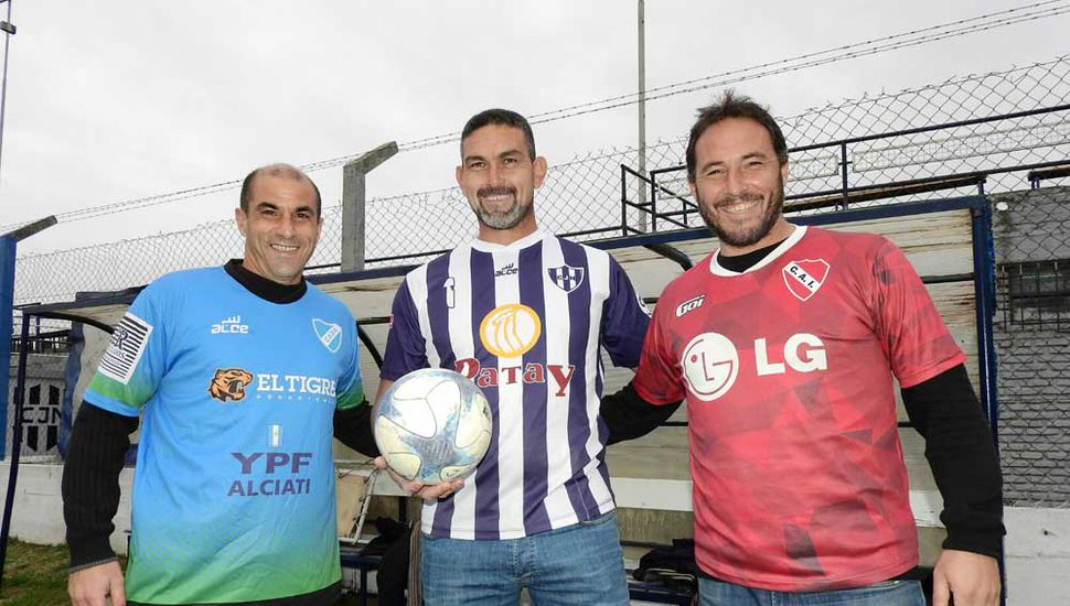 Mauricio Muñoz, Oscar De Giulio y Mariano Sardi.