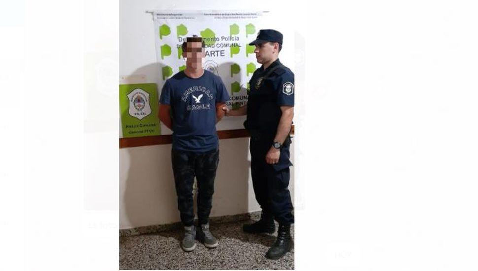 Iriarte: aprehendieron a un hombre que tenía pedido de captura