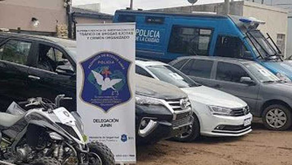 Varios vehículos fueron secuestrados por el personal de la Policía de la Cudad de Buenos Aires, desbaratando una banda de malhechores que operaba desde Junín.