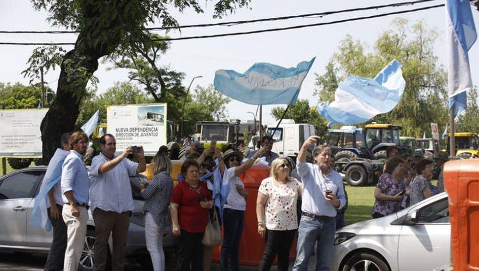 Los productores reclamaron con un masivo tractorazo en Pergamino.