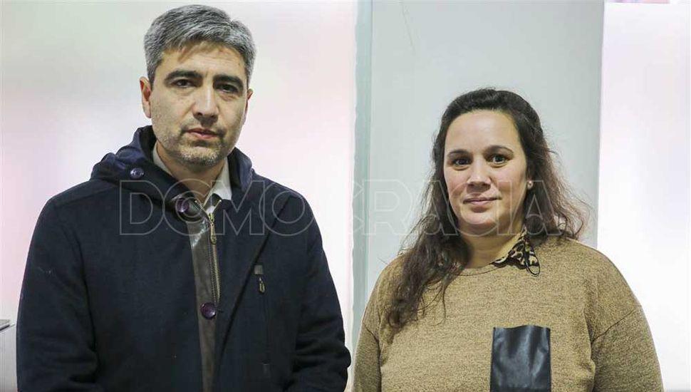 Daniel Coria y Celeste Casella.