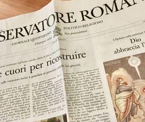 El diario vaticano, L'Osservatore Romano, deja de imprimirse por coronavirus