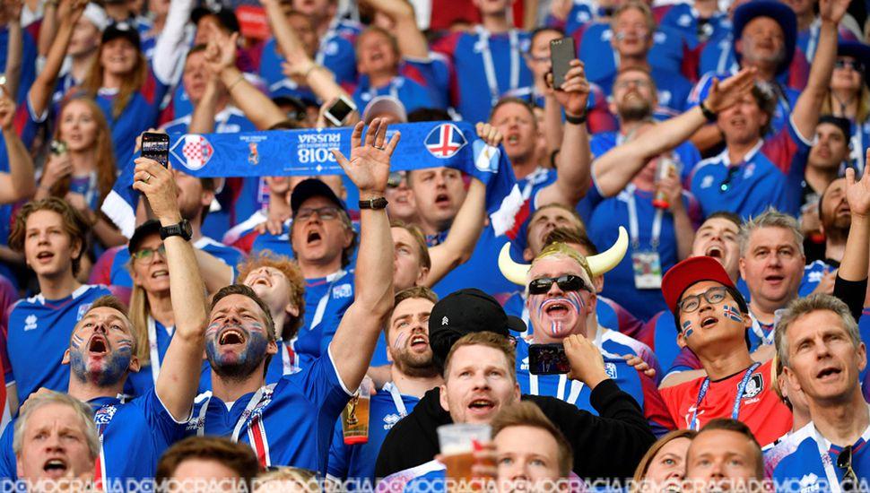 Los hinchas islandeses vivieron una fiesta inolvidable en Moscú.