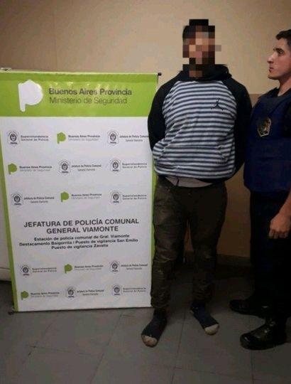 Viamonte: aprehendieron a un hombre por disturbios en la via publica
