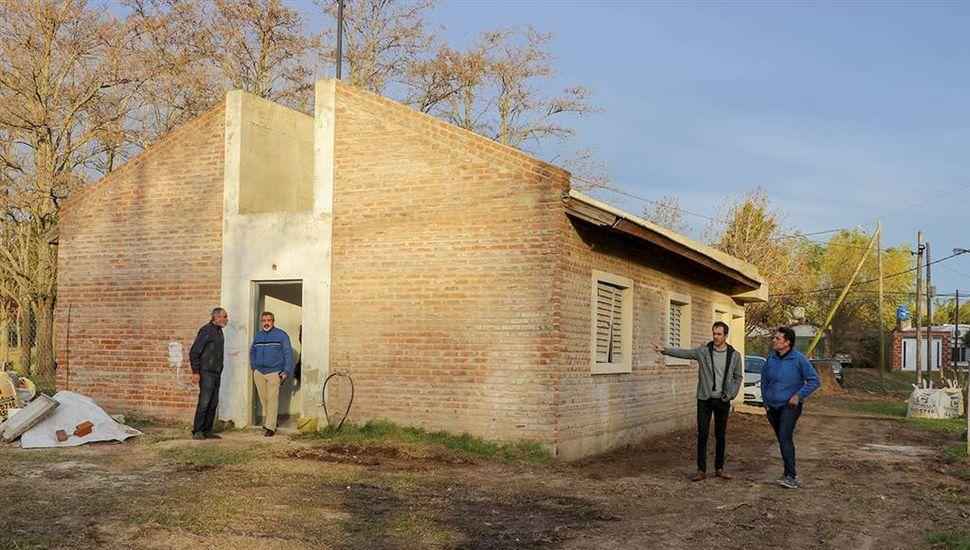 Avanza la construcción del destacamento policial Villa del Parque