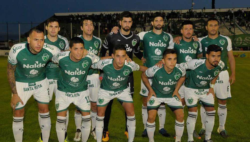 Equipo titular de Sarmiento que el martes enfrentó a Arsenal.