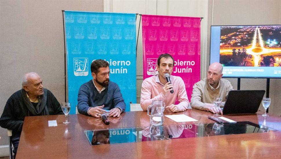 Presentaron los avances del Plan de Reconversión de Alumbrado Público