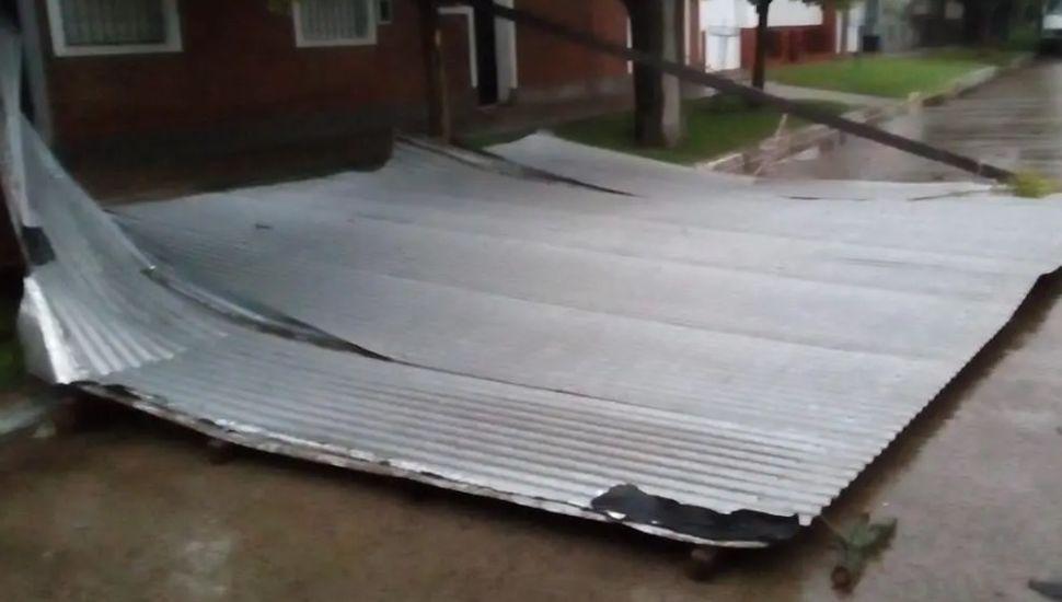 Serios destrozos en Chacabuco por el temporal