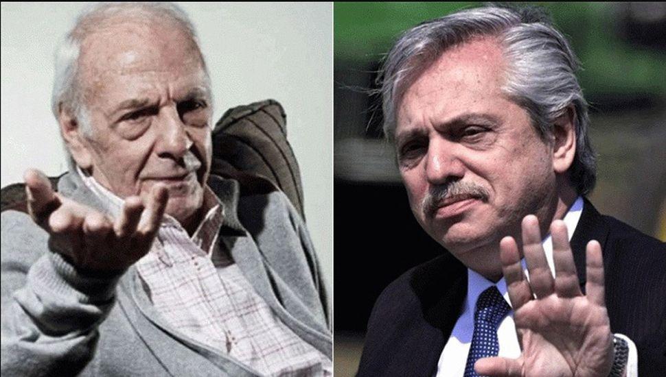 César Luis Menotti y Alberto Fernández.