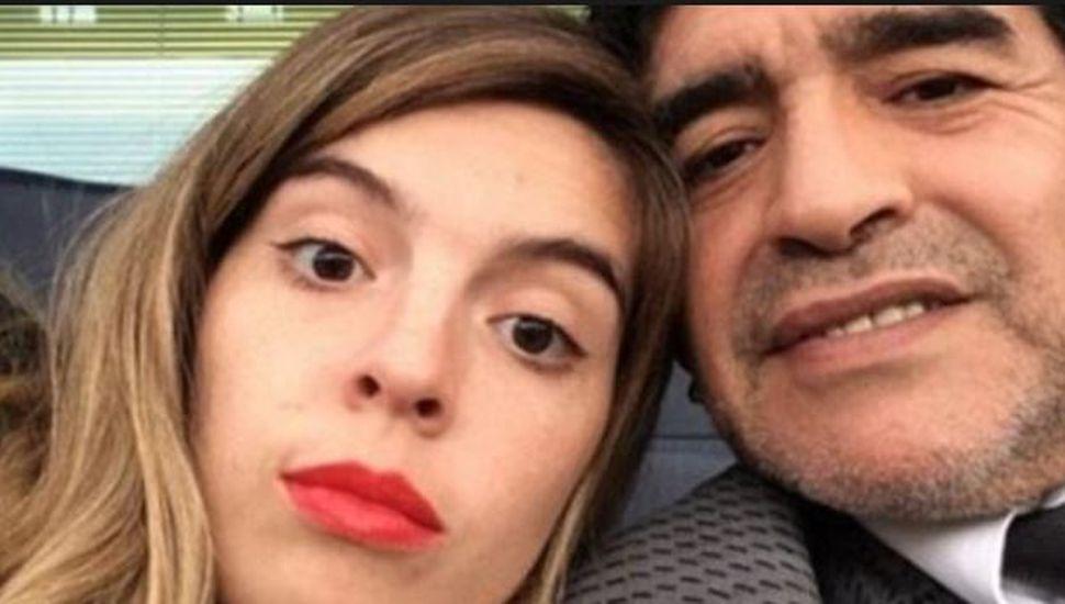 El polémico mensaje que Maradona le dedicó a Dalma por su cumpleaños