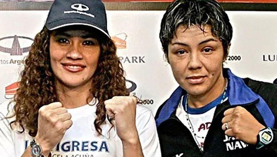 """Marcela """"La tigresa"""" Acuña y Jackie Nava volverán a verse las caras sobre un ring a diez años de la pelea que ganó la argentina, en 2009."""