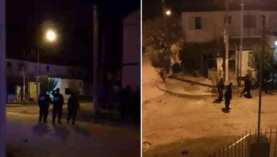 Violento episodio en Rojas: la policía disparó con balas de goma