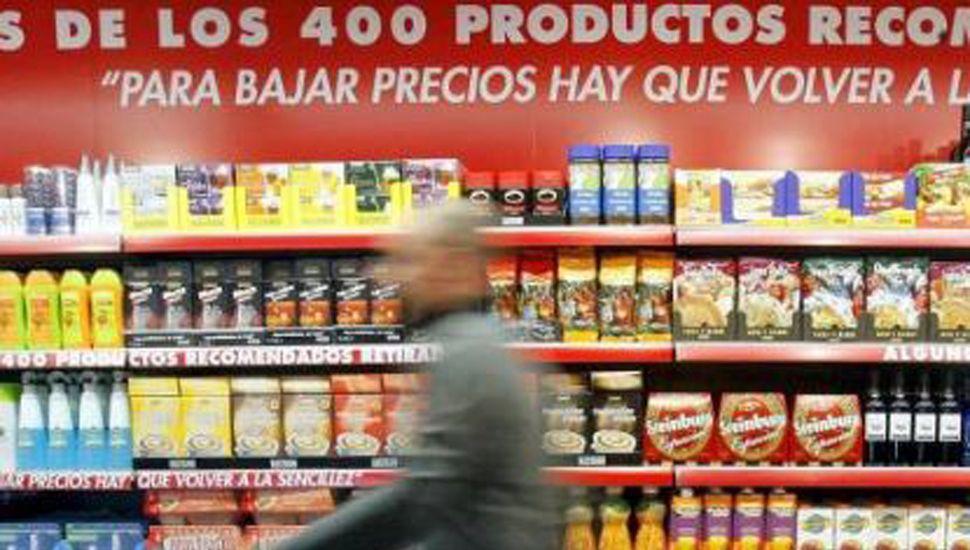 Los supermercados vendieron un 13,2% menos