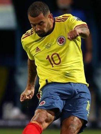 Edwin Cardona, volante creativo de la selección de Colombia.