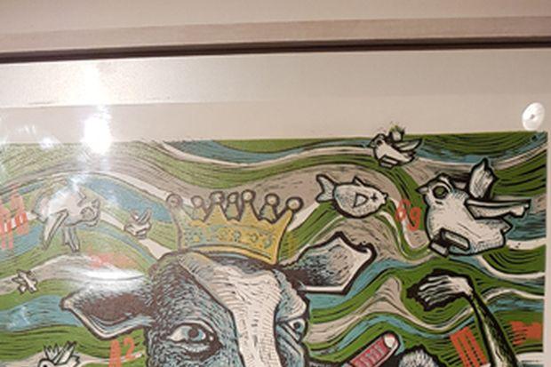 Uno de los trabajos del reconocido artista capitalino.