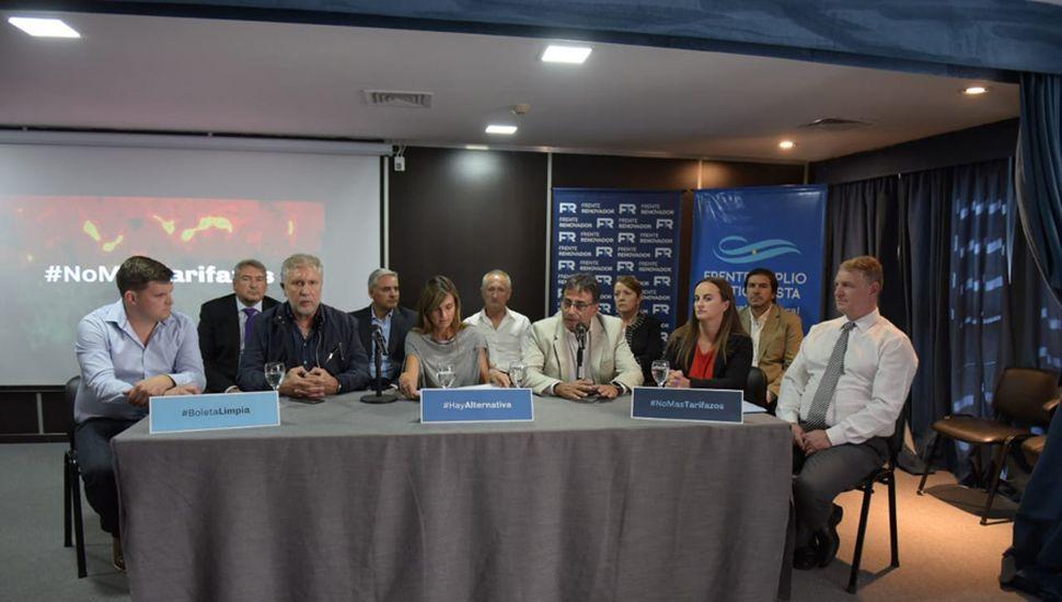 Esta semana, Giaccone dio una conferencia en conjunto con el Frente Renovador.