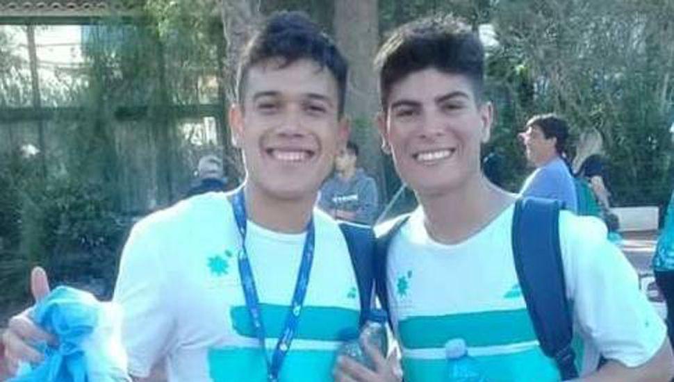 Luciano Puppo y el juninense Santiago Martín Rolla (derecha), cayeron en cuartos de final del mundial de padel, en el torneo Open.