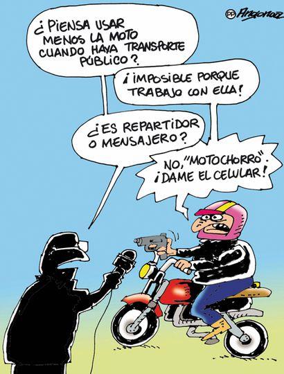 El 57% no usará menos la moto aunque haya transporte público
