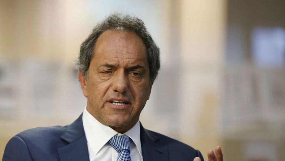Scioli se despegó de Cristina y dijo que será candidato presidencial