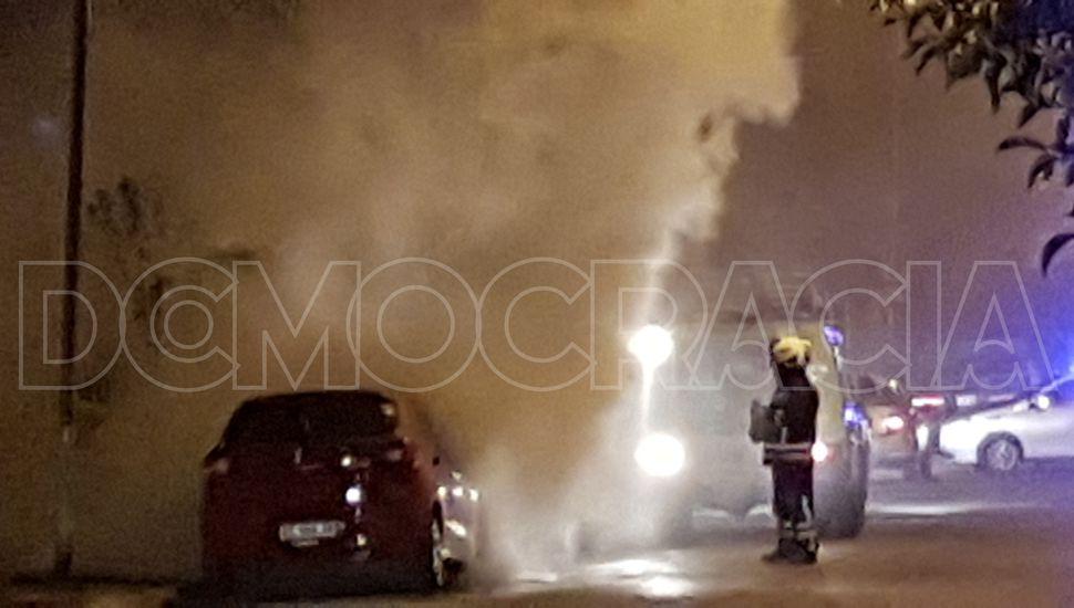 Se incendió un auto
