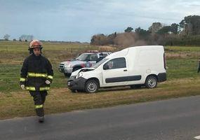 Dos autos chocaron en la Ruta Provincial 65