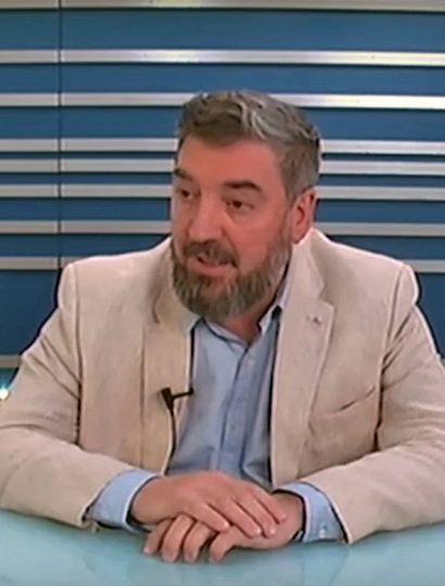 Guillermo Tamarit, rector de la Universidad, en los estudios de TeleJunín.
