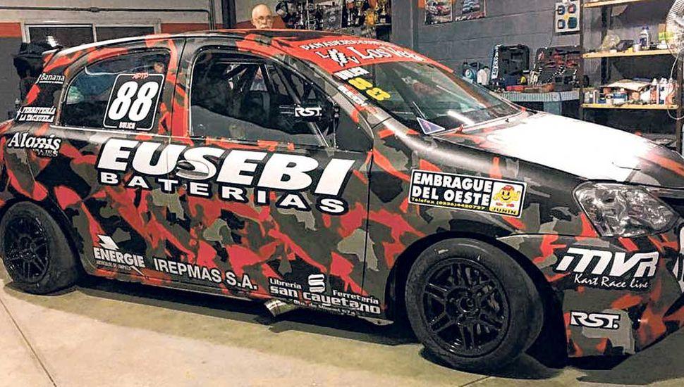 Nicolás Bulich tiene su nuevo auto, para correr en Olavarría