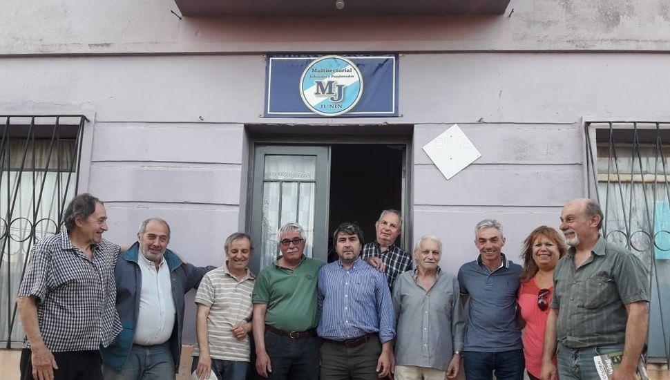 Meoni se reunió con la Multisectorial de Jubilados